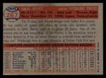 1957 Topps #267  Danny Kravitz  Back Thumbnail