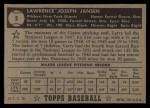 1952 Topps #5 BLK Larry Jansen  Back Thumbnail