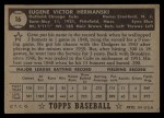 1952 Topps #16  Gene Hermanski  Back Thumbnail