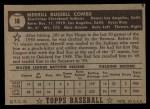 1952 Topps #18  Merrill Combs  Back Thumbnail