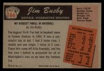 1955 Bowman #166  Jim Busby  Back Thumbnail