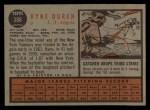 1962 Topps #388  Ryne Duren  Back Thumbnail