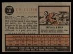 1962 Topps #486  Jim Gilliam  Back Thumbnail