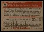 1952 Topps #48 ^RED^ Joe Page  Back Thumbnail