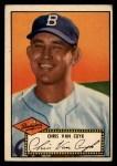 1952 Topps #53 BLK Chris Van Cuyk  Front Thumbnail