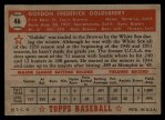 1952 Topps #46  Gordon Goldsberry  Back Thumbnail