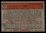 1952 Topps #233  Bob Friend  Back Thumbnail