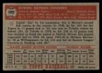 1952 Topps #192  Myron Ginsberg  Back Thumbnail