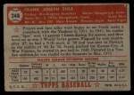1952 Topps #248  Frank Shea  Back Thumbnail