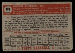 1952 Topps #199  George Zuverink  Back Thumbnail