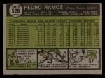 1961 Topps #528  Pedro Ramos  Back Thumbnail