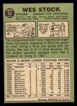 1967 Topps #74  Wes Stock  Back Thumbnail