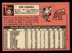 1969 Topps #193  Don Cardwell  Back Thumbnail
