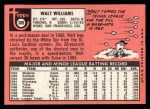 1969 Topps #309  Walt Williams  Back Thumbnail