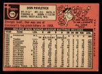 1969 Topps #179  Don Pavletich  Back Thumbnail
