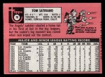 1969 Topps #78  Tom Satriano  Back Thumbnail