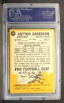 1967 Topps #107  Cotton Davidson  Back Thumbnail