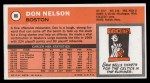 1970 Topps #86  Don Nelson   Back Thumbnail