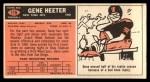 1965 Topps #115  Gene Heeter  Back Thumbnail