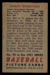 1951 Bowman #95  Sherry Robertson  Back Thumbnail