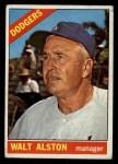 1966 Topps #116  Walter Alston  Front Thumbnail