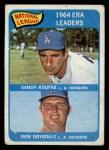 1965 Topps #8   -  Don Drysdale / Sandy Koufax NL ERA Leaders Front Thumbnail