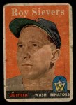 1958 Topps #250  Roy Sievers  Front Thumbnail
