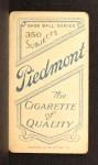 1909 T206 #41 BAT Roger Bresnahan  Back Thumbnail