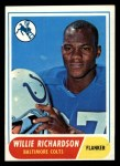 1968 Topps #152  Willie Richardson  Front Thumbnail