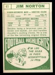 1968 Topps #41  Jim Norton  Back Thumbnail