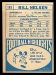 1968 Topps #189  Bill Nelsen  Back Thumbnail