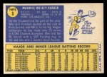 1970 Topps #5  Wes Parker  Back Thumbnail