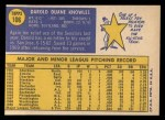 1970 Topps #106  Darold Knowles  Back Thumbnail