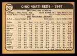 1968 Topps #574   Reds Team Back Thumbnail