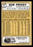 1968 Topps #391  Bob Priddy  Back Thumbnail
