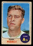 1968 Topps #38  Tony Pierce  Front Thumbnail