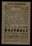 1952 Bowman #41  Chico Carrasquel  Back Thumbnail