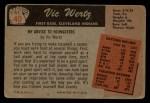 1955 Bowman #40  Vic Wertz  Back Thumbnail