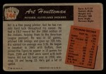 1955 Bowman #144  Art Houtteman  Back Thumbnail