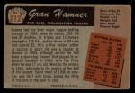 1955 Bowman #112  Granny Hamner  Back Thumbnail