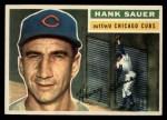 1956 Topps #41  Hank Sauer  Front Thumbnail