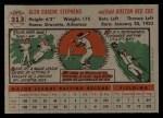 1956 Topps #313  Gene Stephens  Back Thumbnail