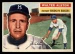 1956 Topps #8  Walter Alston  Front Thumbnail