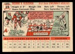 1956 Topps #25  Ted Kluszewski  Back Thumbnail