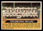 1956 Topps #72 CEN  Phillies Team Front Thumbnail