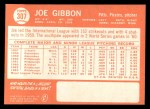 1964 Topps #307  Joe Gibbon  Back Thumbnail