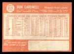 1964 Topps #417  Don Cardwell  Back Thumbnail