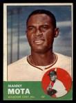1963 Topps #141  Manny Mota  Front Thumbnail