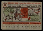 1956 Topps #22  Jim Finigan  Back Thumbnail