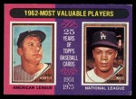 1975 Topps #200   -  Mickey Mantle / Maury Wills 1962 MVPs Front Thumbnail